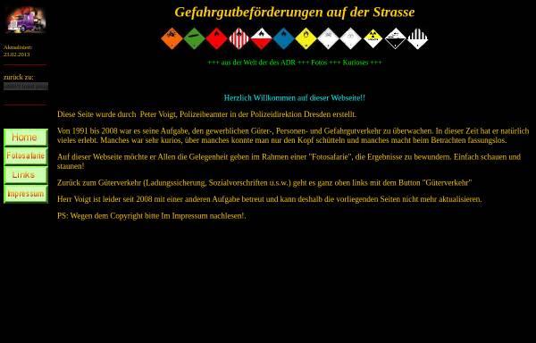 Vorschau von gefahrgut.gefahrgut-guetertransport.de, Gefahrgutbeförderungen auf der Straße