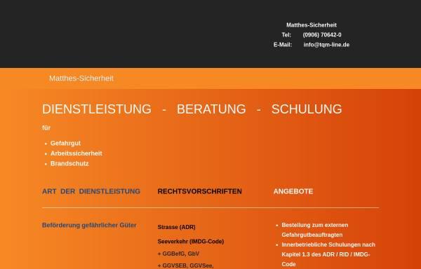 Vorschau von www.matthes-sicherheit.de, Matthes Sicherheit, Inh. Günter Matthes