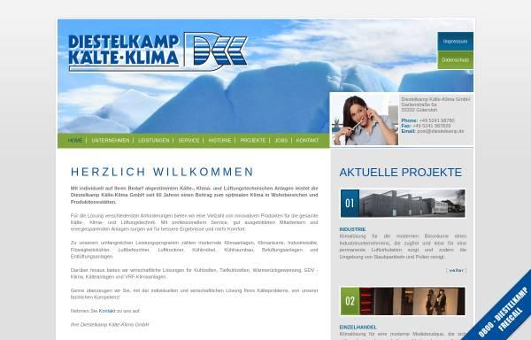 Vorschau von www.diestelkamp.de, Diestelkamp Kälte-Klima GmbH