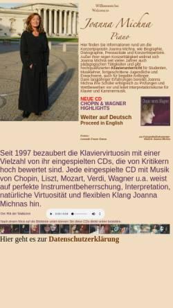 Vorschau der mobilen Webseite www.joanna-michna.de, Michna, Joanna