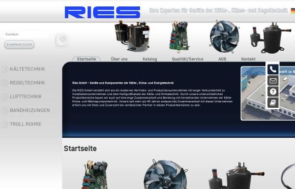 Vorschau von www.ries-gmbh.de, Ries GmbH Kälte-, Klima- und Energietechnik