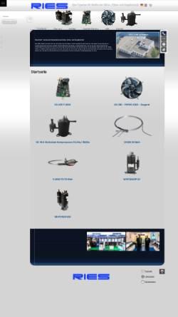 Vorschau der mobilen Webseite www.ries-gmbh.de, Ries GmbH Kälte-, Klima- und Energietechnik