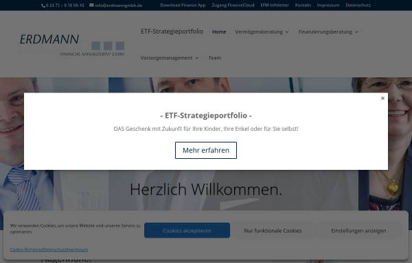 Vorschau von www.erdmanngmbh.de, Erdmann Financial Management GmbH
