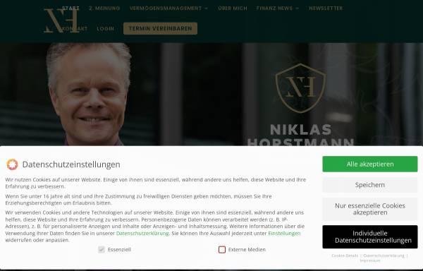 Vorschau von www.horstmann-finanz.de, Horstmann Finanzcoach KG