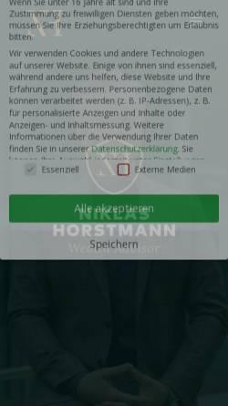 Vorschau der mobilen Webseite www.horstmann-finanz.de, Horstmann Finanzcoach KG