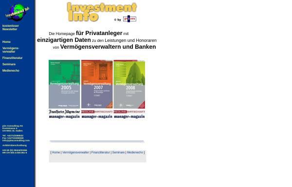 Vorschau von www.investment-info.com, PIM Consulting AG