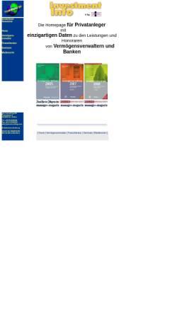 Vorschau der mobilen Webseite www.investment-info.com, PIM Consulting AG