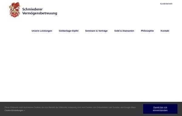 Vorschau von www.vbeg.de, VBeG Schmiederer Vermögensbetreuung GmbH & Co. KG