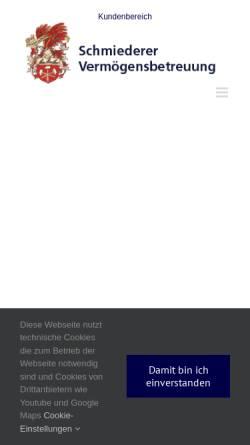 Vorschau der mobilen Webseite www.vbeg.de, VBeG Schmiederer Vermögensbetreuung GmbH & Co. KG