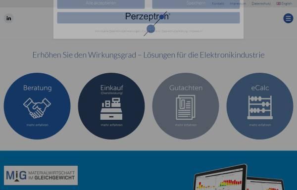 Vorschau von www.perzeptron.de, Perzeptron GmbH