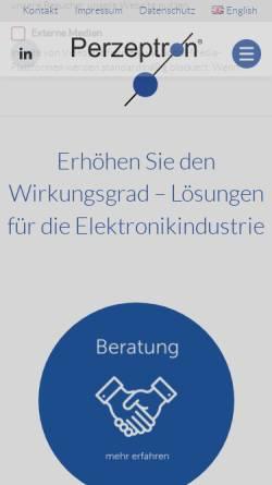 Vorschau der mobilen Webseite www.perzeptron.de, Perzeptron GmbH