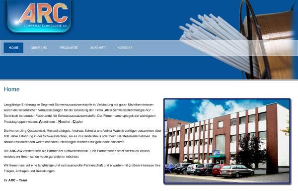Vorschau von www.arc-technologie.de, ARC Schweisstechnologie AG