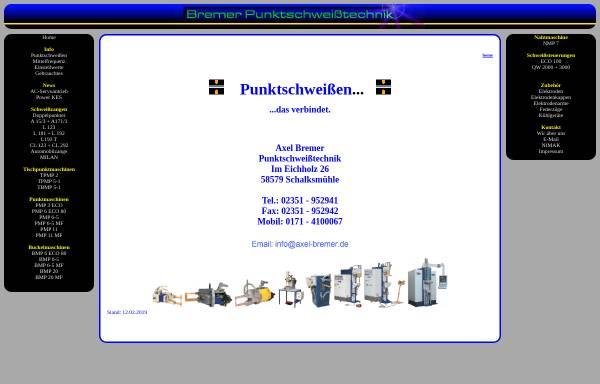 Vorschau von www.axel-bremer.de, Axel Bremer Punktschweißtechnik
