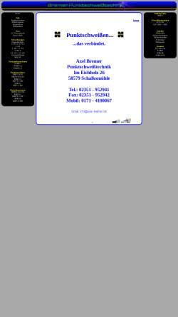 Vorschau der mobilen Webseite www.axel-bremer.de, Axel Bremer Punktschweißtechnik