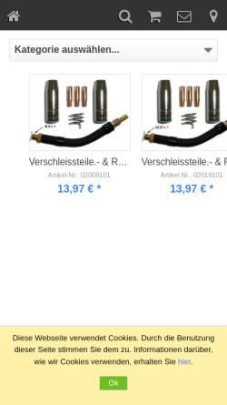 Vorschau der mobilen Webseite www.celortronic.de, Celortronic Schweißmaschinen GmbH