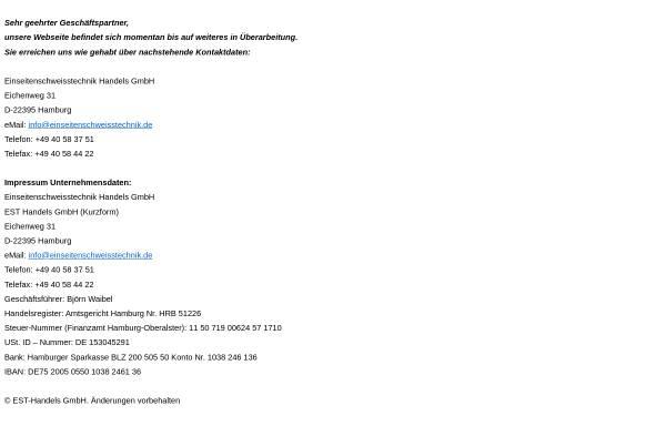Vorschau von www.einseitenschweisstechnik.de, EST EinseitenSchweisstechnik GmbH