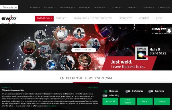 Vorschau von ewm.de, EWM HIGHTEC Welding GmbH