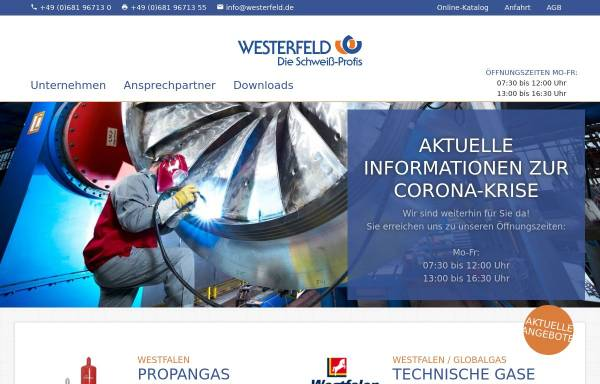 Vorschau von www.westerfeld.de, Gustav Westerfeld GmbH
