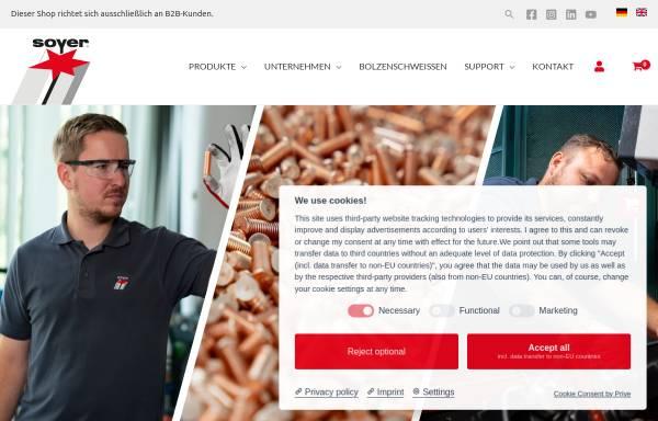 Vorschau von www.soyer.com, Heinz Soyer Bolzenschweißtechnik GmbH