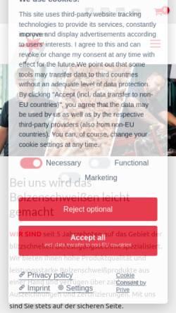 Vorschau der mobilen Webseite www.soyer.com, Heinz Soyer Bolzenschweißtechnik GmbH
