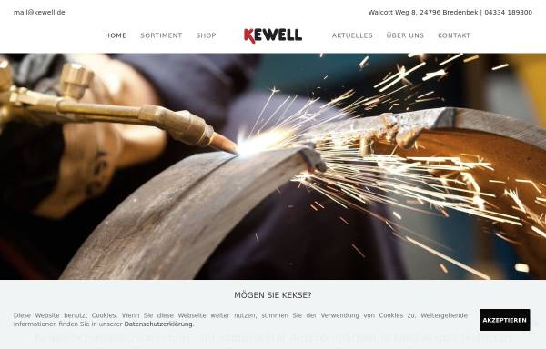 Vorschau von www.kewell-schweisstechnik.de, Kewell Schweißtechnik GmbH