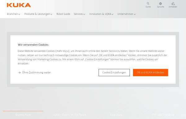 Vorschau von www.kuka.de, KUKA Schweißanlagen GmbH und KUKA Roboter GmbH