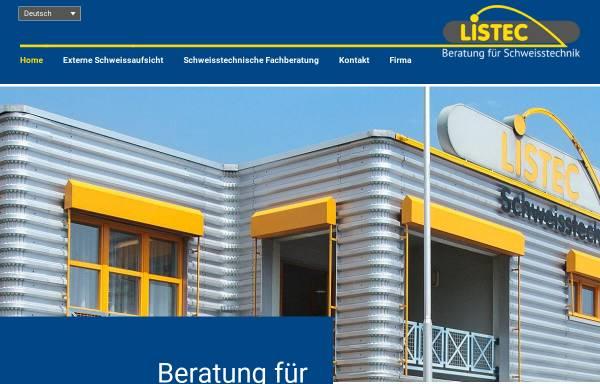 Vorschau von www.listec.ch, Listec Schweisstechnik AG
