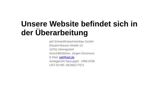 Vorschau von www.pef.de, PEF-Hennigsdorf Dommenz & Sielaff oHG