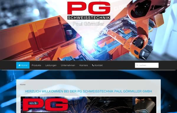 Vorschau von www.pg-schweisstechnik.de, PG Schweisstechnik Paul Görmiller GmbH