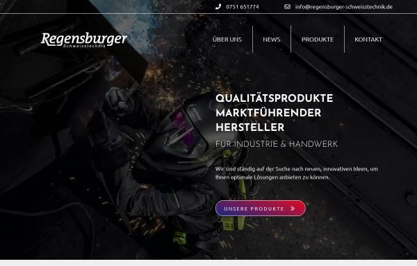 Vorschau von www.regensburger-schweisstechnik.de, Regensburger Schweißtechnik, Inh. Ludwig Regensburger