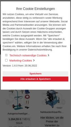 Vorschau der mobilen Webseite www.rehm-schweisstechnik.de, Rehm Schweißtechnik GmbH