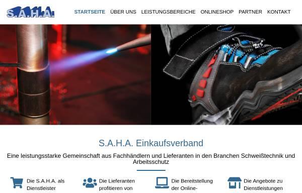 Vorschau von www.saha.de, S.A.H.A. Handels und Beratungsgesellschaft mbH