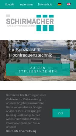 Vorschau der mobilen Webseite www.schirmacher-hf.de, Schirmacher GmbH