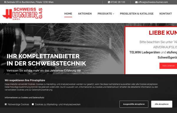 Vorschau von www.schweiss-humer.com, Schweiss-Humer, Inh. Ing. Hans Humer