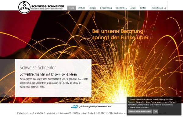 Vorschau von www.schweiss-schneider.de, Schweiss-Schneider Gesellschaft für Schweisstechnik mbH