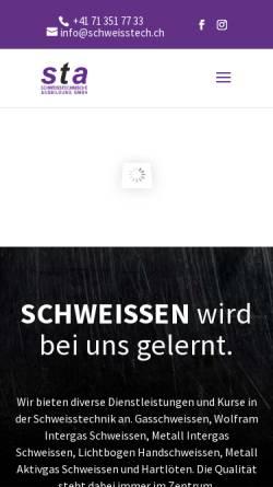 Vorschau der mobilen Webseite www.schweisstech.ch, Schweisstechnische Ausbildung Georg Marbet