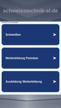Vorschau der mobilen Webseite www.schweisstechnik-sl.de, Schweißtechnische Lehranstalt Potsdam