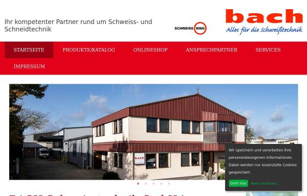 Vorschau von www.bach-gmbh.de, Thomas Bach GmbH