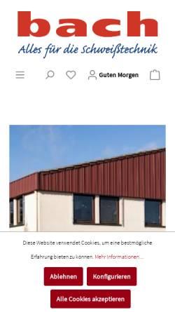 Vorschau der mobilen Webseite www.bach-gmbh.de, Thomas Bach GmbH