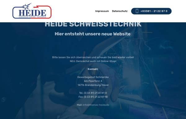 Vorschau von www.thomas-heide.de, Thomas Heide