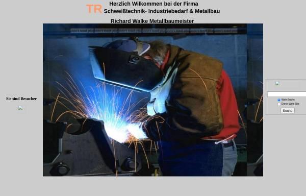 Vorschau von www.trwalke.de, TR Schweißtechnik- Industriebedarf & Metallbau, Inh. Richard Walke und Thomas Heinze