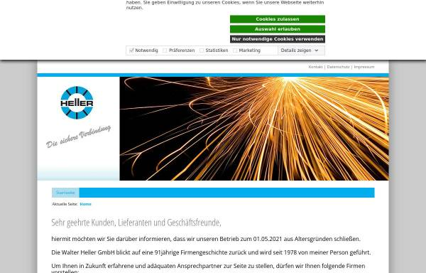Vorschau von www.heller-schweisstechnik.de, Walter Heller GmbH