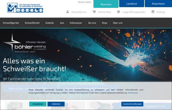 Vorschau von www.merkle-muenchen.de, Wilhelm Merkle Schweißtechnik GmbH