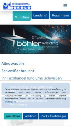 Vorschau der mobilen Webseite www.merkle-muenchen.de, Wilhelm Merkle Schweißtechnik GmbH