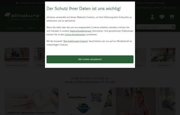 Vorschau von www.allnatura.de, Allnatura GmbH