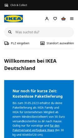 Vorschau der mobilen Webseite www.ikea.de, IKEA Deutschland GmbH & Co. KG