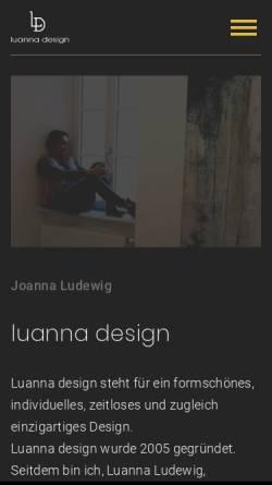 Vorschau der mobilen Webseite luanna.de, Luanna.de, Joanna Ludewig