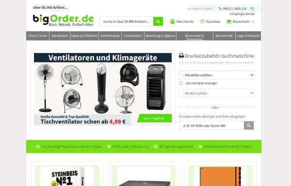 Vorschau von www.bigorder.de, BigOrder GmbH