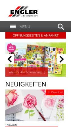 Vorschau der mobilen Webseite www.buero-engler.de, Engler GmbH