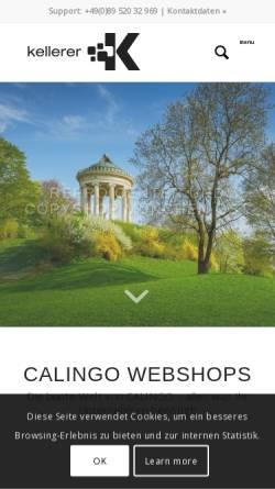 Vorschau der mobilen Webseite www.reprokellerer.de, Repro Kellerer GmbH-Reproservice und Bürobedarf